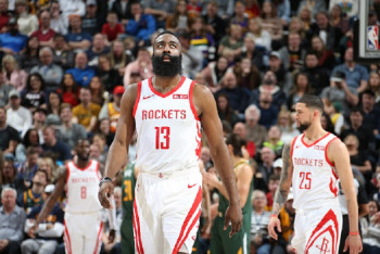 b8224810c7c6 Unstoppable Harden 30-Point Game Streak Powers Rockets Over Jazz